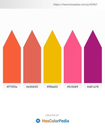 Palette image download - Tomato – Dark Salmon – Orange – Hot Pink – Medium Violet Red