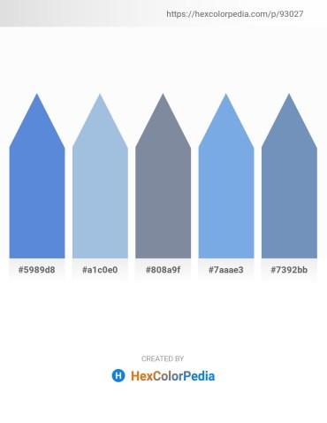 Palette image download - Royal Blue – Light Blue – Light Slate Gray – Sky Blue – Cadet Blue