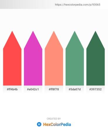 Palette image download - Tomato – Orchid – Light Salmon – Cadet Blue – Sea Green