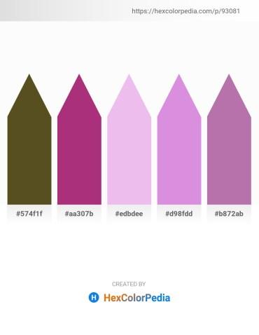 Palette image download - Dark Olive Green – Olive Drab – Lavender – Medium Orchid – Rosy Brown