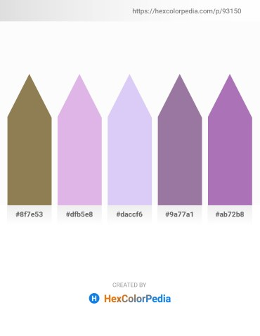 Palette image download - Dark Khaki – Lavender – Lavender – Black – Medium Orchid