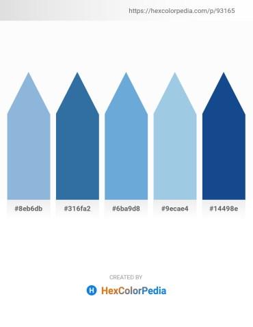 Palette image download - Light Blue – Steel Blue – Cadet Blue – Light Blue – Midnight Blue