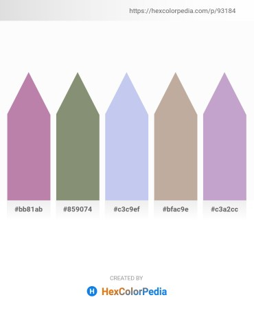 Palette image download - Rosy Brown – Gray – Light Blue – Rosy Brown – Pale Violet Red