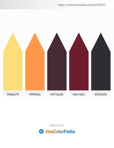 Palette image download - Navajo White – Coral – Dim Gray – Brown – Dark Slate Gray
