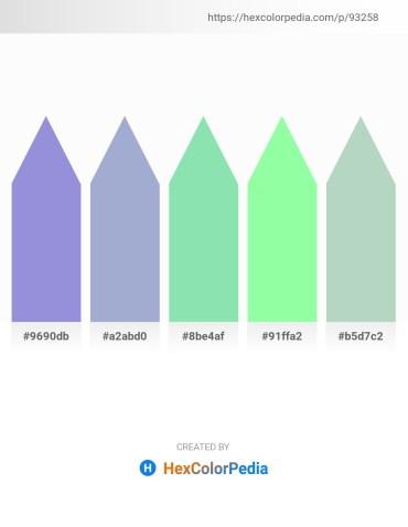 Palette image download - Medium Purple – Light Steel Blue – Light Green – Pale Green – Pink