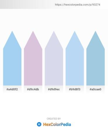 Palette image download - Sky Blue – Light Steel Blue – Light Steel Blue – Pale Turquoise – Light Blue
