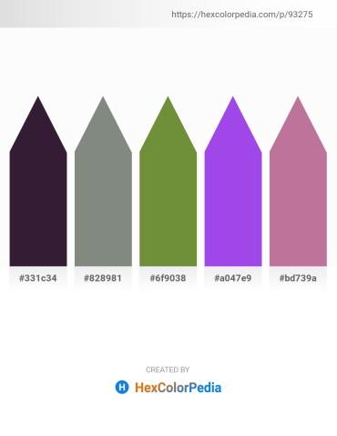 Palette image download - Midnight Blue – Slate Gray – Dark Olive Green – Blue Violet – Rosy Brown