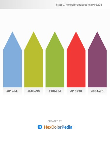 Palette image download - Sky Blue – Yellow Green – Yellow Green – Crimson – Steel Blue