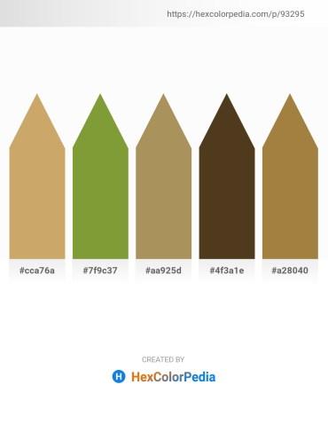 Palette image download - Dark Khaki – Olive Drab – Dark Khaki – Peru – Olive
