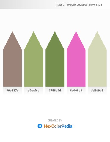 Palette image download - Gray – Dark Khaki – Dark Olive Green – Violet – Tan