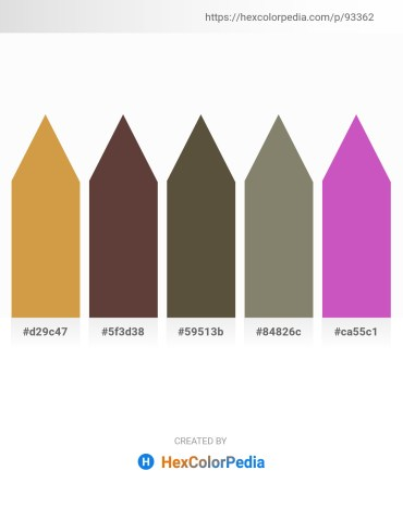 Palette image download - Peru – Chocolate – Dark Olive Green – Gray – Orchid