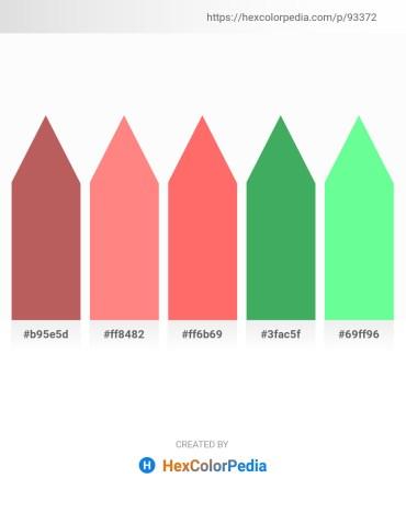 Palette image download - Indian Red – Light Salmon – Salmon – Medium Sea Green – Pale Green