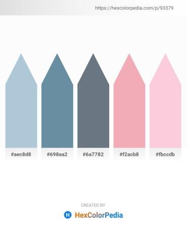 Palette image download - Light Steel Blue – Cadet Blue – Slate Gray – Cadet Blue – Pink