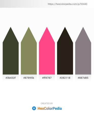 Palette image download - Dark Olive Green – Gray – Hot Pink – Black – Gray