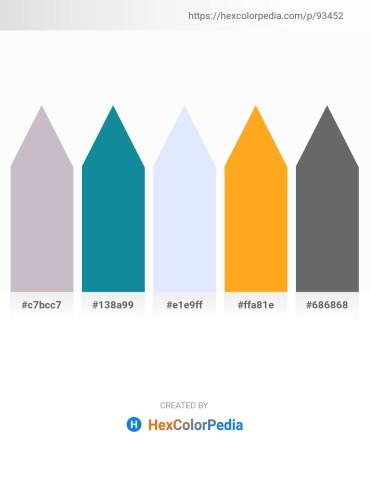 Palette image download - Thistle – Light Sea Green – Alice Blue – Orange – Dim Gray