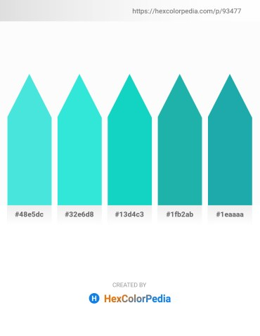 Palette image download - Turquoise – Turquoise – Dark Turquoise – Light Sea Green – Light Sea Green