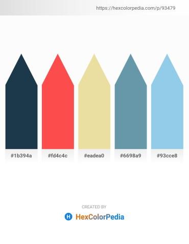 Palette image download - Dark Slate Gray – Tomato – Pale Goldenrod – Cadet Blue – Sky Blue