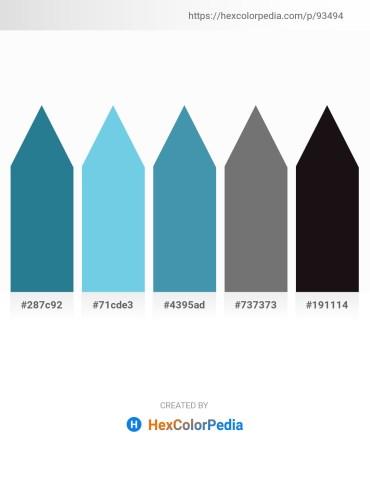 Palette image download - Steel Blue – Sky Blue – Steel Blue – Dim Gray – Black
