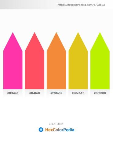 Palette image download - Deep Pink – Tomato – Sandy Brown – Goldenrod – Chartreuse