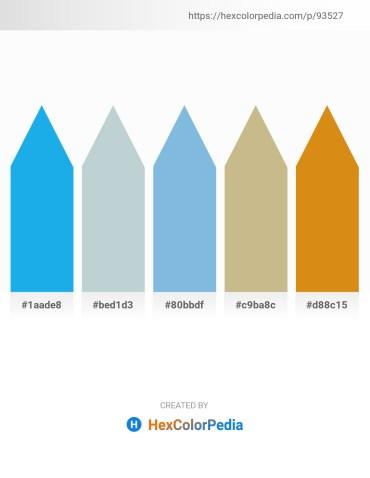 Palette image download - Deep Sky Blue – Light Steel Blue – Sky Blue – Tan – Goldenrod