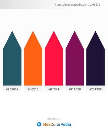 Palette image download - Dark Slate Gray – Orange Red – Red – Purple – Midnight Blue