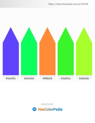 Palette image download - Medium Slate Blue – Spring Green – Coral – Lime – Green Yellow