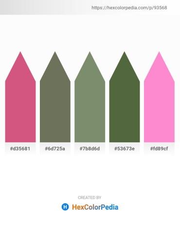 Palette image download - Pale Violet Red – Dim Gray – Dark Sea Green – Dark Olive Green – Hot Pink