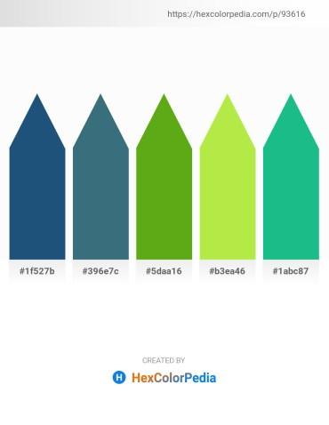 Palette image download - Midnight Blue – Dark Slate Gray – Olive Drab – Green Yellow – Light Sea Green