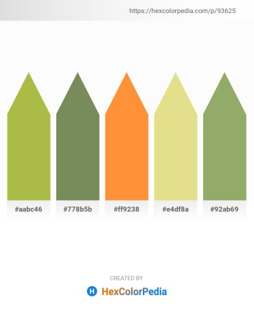 Palette image download - Dark Khaki – Dark Olive Green – Coral – Pale Goldenrod – Dark Khaki