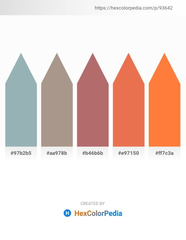 Palette image download - Light Slate Gray – Rosy Brown – Rosy Brown – Light Coral – Coral