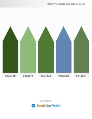Palette image download - Forest Green – Dark Sea Green – Dark Olive Green – Steel Blue – Dark Olive Green