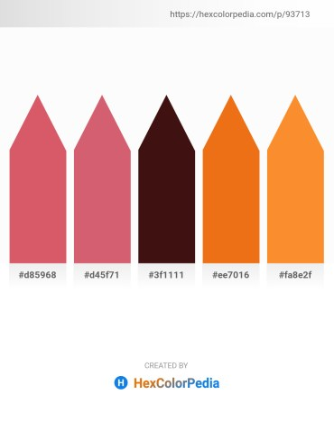 Palette image download - Indian Red – Indian Red – Rosy Brown – Chocolate – Coral