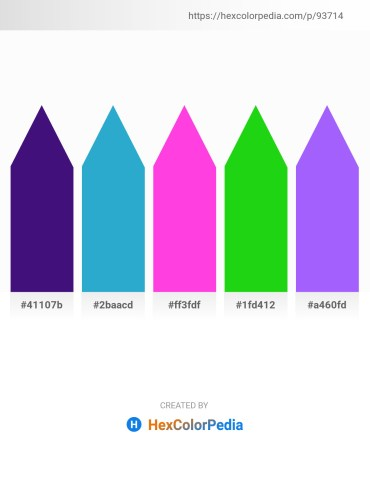 Palette image download - Midnight Blue – Light Sea Green – Hot Pink – Lime – Medium Slate Blue