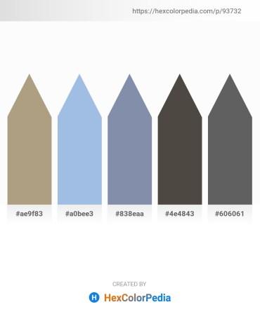Palette image download - Dark Khaki – Light Blue – Light Slate Gray – Dim Gray – Slate Gray