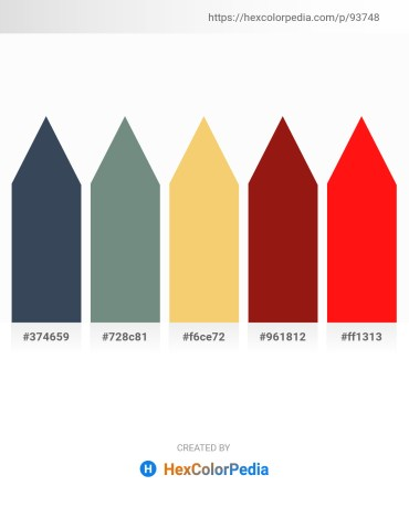 Palette image download - Dark Slate Gray – Slate Gray – Sandy Brown – Saddle Brown – Red