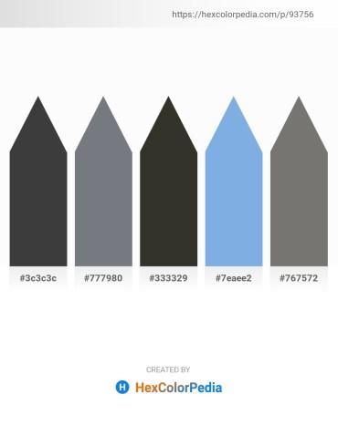 Palette image download - Dim Gray – Slate Gray – Black – Sky Blue – Dim Gray