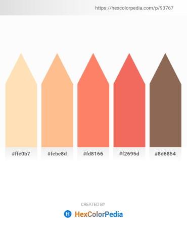 Palette image download - Moccasin – Light Salmon – Salmon – Salmon – Dim Gray