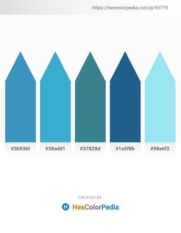 Palette image download - Steel Blue – Medium Turquoise – Steel Blue – Gainsboro – Sky Blue