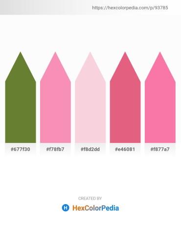 Palette image download - Dark Olive Green – Hot Pink – Antique White – Pale Violet Red – Hot Pink