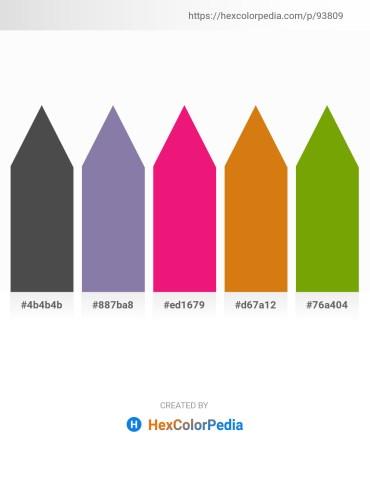 Palette image download - Dim Gray – Light Slate Gray – Medium Violet Red – Chocolate – Olive