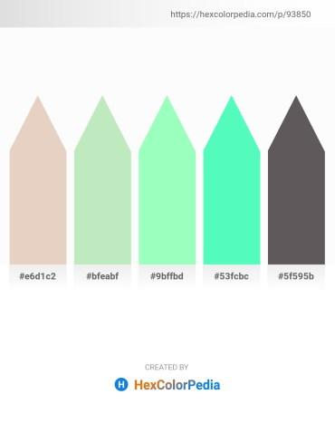 Palette image download - Beige – Powder Blue – Aquamarine – Aquamarine – Dim Gray
