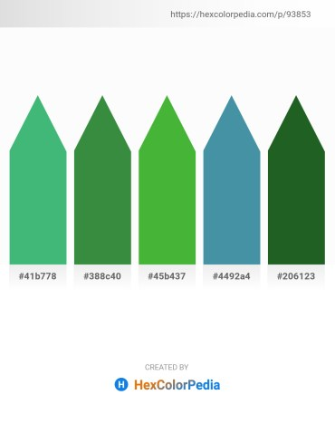 Palette image download - Medium Sea Green – Sea Green – Lime Green – Steel Blue – Forest Green