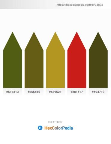 Palette image download - Olive Drab – Slate Gray – Goldenrod – Firebrick – Dark Olive Green