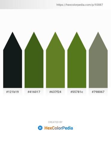 Palette image download - Dark Slate Gray – Forest Green – Olive Drab – Olive Drab – Dim Gray