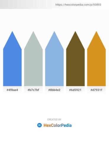 Palette image download - Cornflower Blue – Dark Sea Green – Sky Blue – Steel Blue – Goldenrod