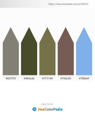 Palette image download - Gray – Dark Olive Green – Dark Olive Green – Dim Gray – Sky Blue