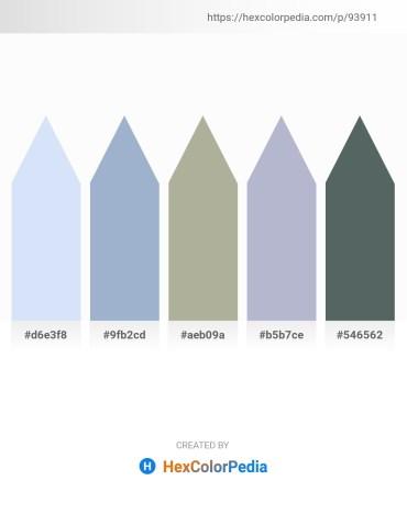 Palette image download - Lavender – Light Steel Blue – Dark Sea Green – Light Steel Blue – Dark Slate Gray