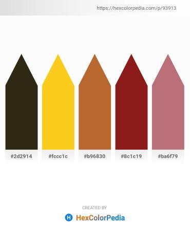 Palette image download - Black – Gold – Sienna – Firebrick – Rosy Brown