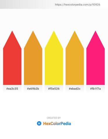 Palette image download - Crimson – Goldenrod – Gold – Goldenrod – Deep Pink