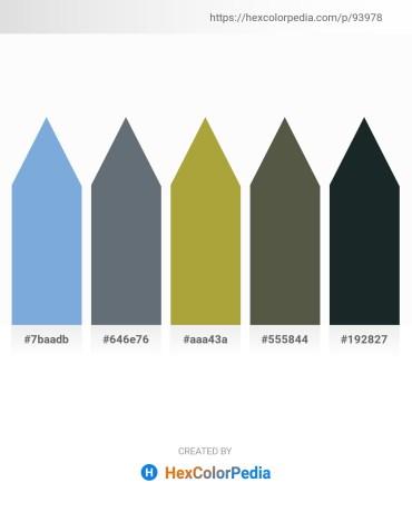 Palette image download - Sky Blue – Slate Gray – Yellow Green – Dark Olive Green – Dark Slate Gray